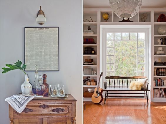 Cubbies...Rustic Living Room Designed by Emily Henderson @Sarah Nasafi Grayce