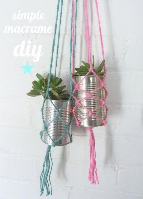 beachcomber: diy macramé plant hanger