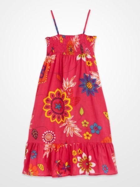 Girls Fuchsia Smocked Floral Sun Dress kids summer  Girls ...