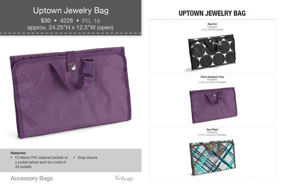 New! Uptown Jewelry Bag Available Sept 1,