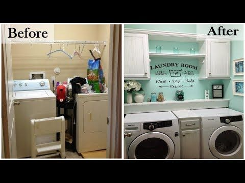 Small Laundry Room Ideas Space Saving Diy Creative Ideas For Tiny Laundry Rooms Easy Diy Laundry Room Makeover Laundry Room Storage Laundry Room Renovation