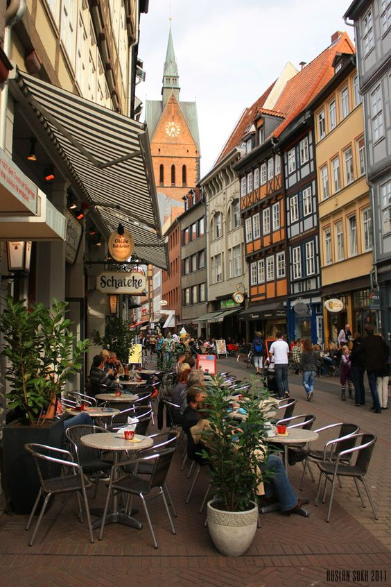 Hannover, Germany--been through here twice during our trip to Denmark, Sweden, and Norway. We ate at the Ratskeller.
