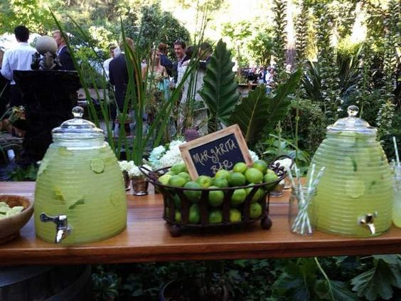 A margarita bar awaits guests at a September wedding at a private estate in Sonoma, Calif.: