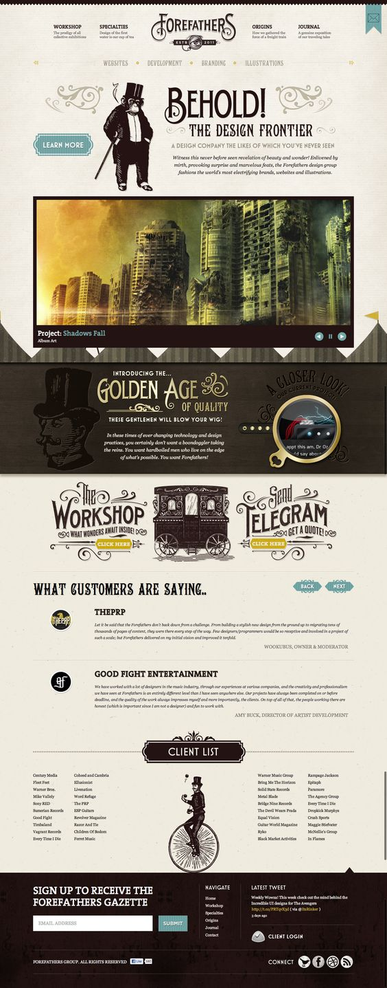 Forefathers Group - A very cool design site #website #webdesign #design #designagency #agency