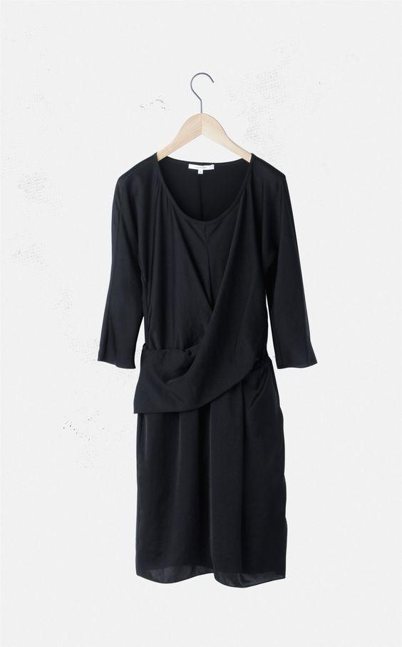 ライトサテン ドレープドレス - Dress - Women