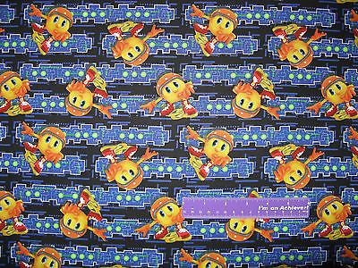 "Pac-Man And The Ghostly Adventures Cotton Fabric From SPX Fabrics. - Sold Continuous Cut By The Half Yard; Each Half Yard is appx. 18"" x 43"" - This fabric is being offered for sale By The Half Yard. I"