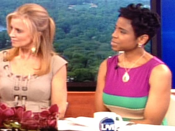 Jacque Reid from New York Live wearing Donna Morgan!