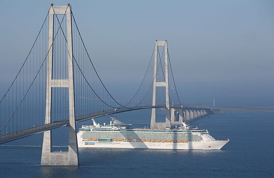 Storebaelt Bridge connecting Jylland to Sjealand Danmark. Amazing!