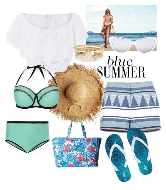 """#summer"" by ameliash on Polyvore featuring мода, Lilly Pulitzer, New Look, Miguelina, BCBGMAXAZRIA, Elizabeth and James и River Island"