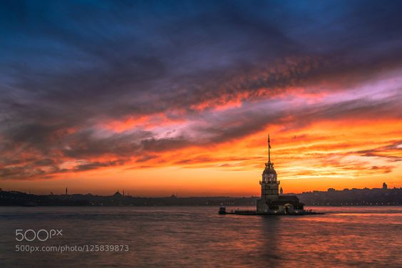 Sunset in Istanbul by gundogdugurkan. Please Like http://fb.me/go4photos and Follow @go4fotos Thank You. :-)