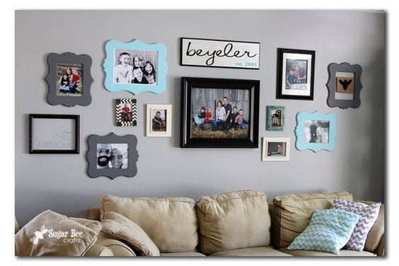 Sugar Bee Crafts: sewing, recipes, crafts, photo tips, and more!: Family Name Sign