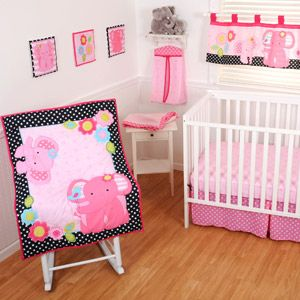 Sumersault - Ellie Friends 10pc Nursery-in-a-Bag Crib Bedding Set Bundle