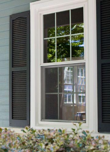 Double Hung Shutters : Double hung window windows pinterest inspiration