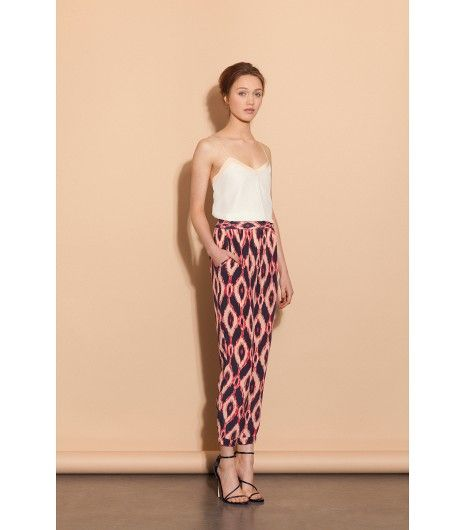 Simple style, max impact @Who What Wear - Shop The Look: Barbara Tank ($123) and Rosie Pants ($177)