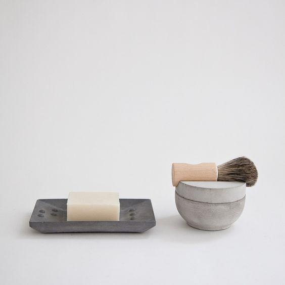 Concrete shaving kit by Lovisa Wattman