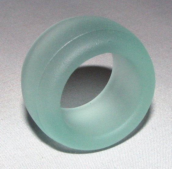 "Antique Sea Glass Bottle Ring ""Seafoam"" San Juan Island, Wa - Jewelry, Marble Display, Bead, Art, Craft"