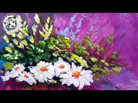 Como Pintar Con Espatula Flores Acrilicos Youtube Como Pintar Flores Flores Pintadas Pintar Con Acrilico