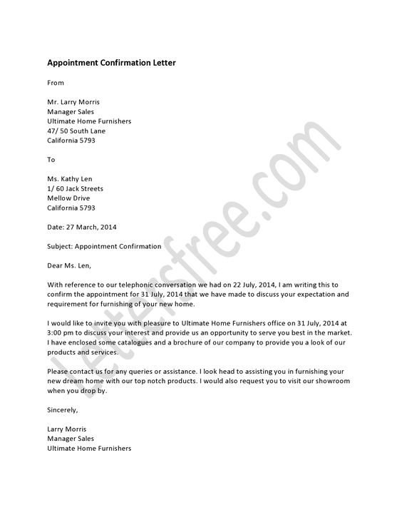 A Letter of Appointment is the confirmation about a job in a given - letter of appointment