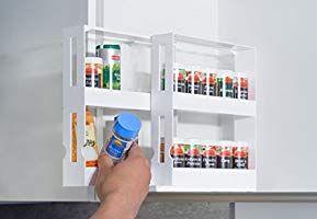 UPP /étag/ère /à /épices Extensible Rangement m/édicaments ou Maquillage Petit Meuble de Rangement et Etagere de Cuisine I Accessoire pour la Cuisine et Salle de Bain