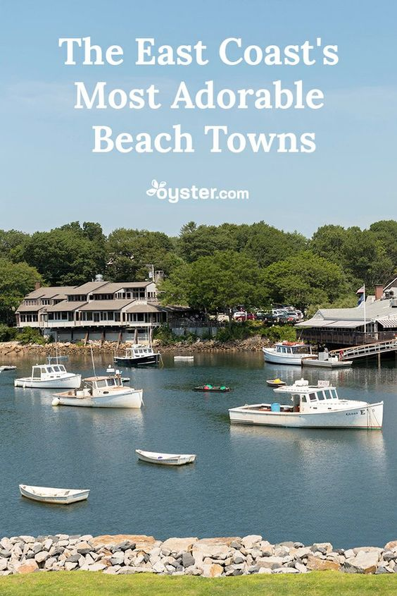 From South Carolina all the way to Maine, here are seven adorable (and popular) beach towns on the east coast.