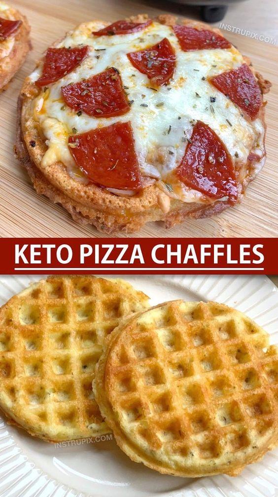 Keto Pizza Chaffle