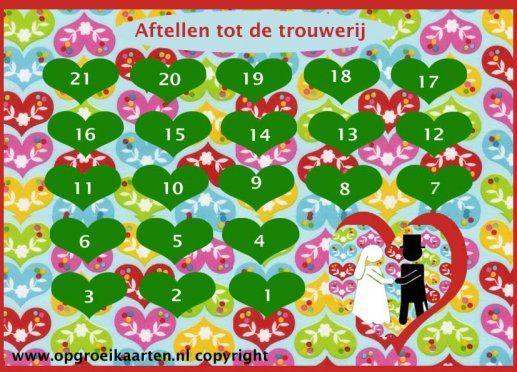 aftelkalender trouwerij