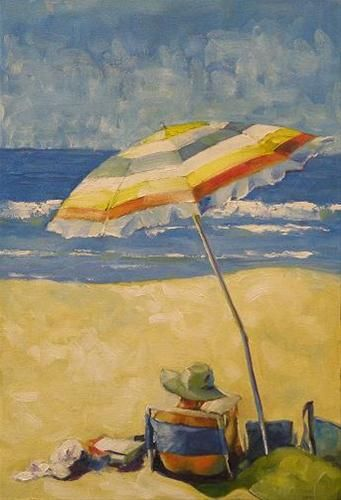 Day at the beach original fine art for sale brian for Original fine art for sale