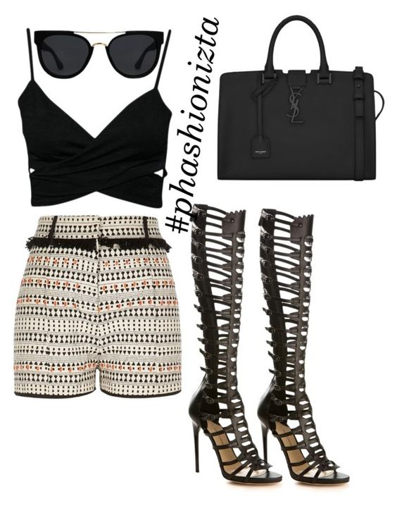 """""""Untitled #147"""" by phashionizta on Polyvore featuring River Island, Paul Andrew, Yves Saint Laurent and Quay"""