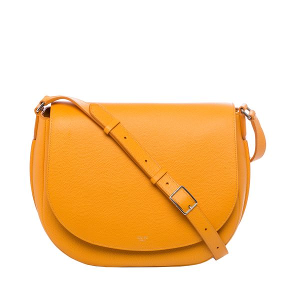 Celine \u0026#39;Trotteur\u0026#39; Saffron Grained Leather Shoulder Bag | Celine ...