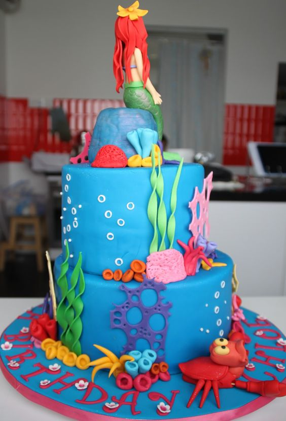 little mermaid party ideas Cake Birthday Cake Wedding cake