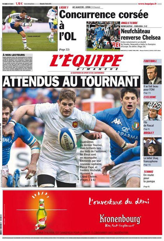 L'Équipe - Dimanche 3 Février 2013 - N° 21387