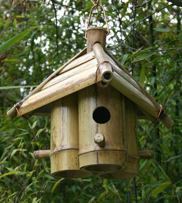 cabane oiseaux en bambou pour une d coration naturelle au jardin jardin pinterest. Black Bedroom Furniture Sets. Home Design Ideas