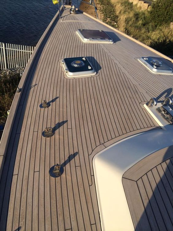 Marine yachts boat deck materials boat dock composite for Synthetic deck material
