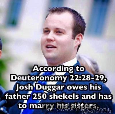 Josh Duggar's biblical penance.