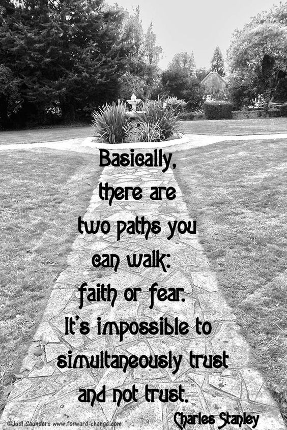 just like faith in Yourself or fear in Yourself .. the choice is always yours .. do what will lead you to Your Happiness <3