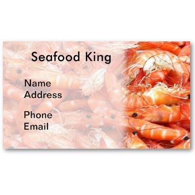 Fresh Shrimps or Prawn on Display Business Card Template