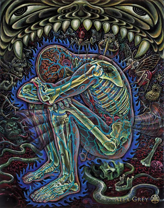 Alex Grey-Despair this is pure awesome