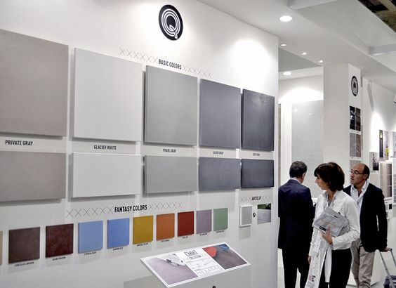 Q by Durstone at Cersaie 2012. Q Area design by VXLAB.