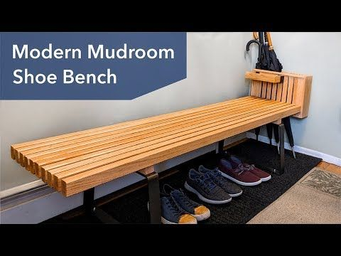 Modern Slatted Shoe Bench A Great Way To Improve The Entrance To Your Home Is To Have A Place To Sit Do Shoe Bench Diy Storage Bench Diy Laundry Room Makeover