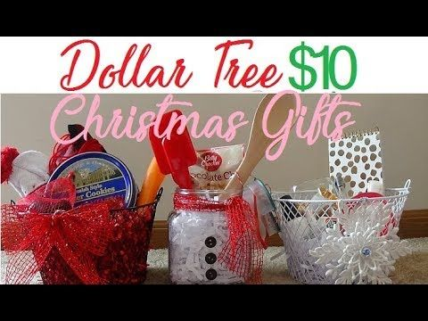 More Dollar Tree Gift Ideas 10 And Under And Awesome Youtube Dollar Tree Gifts Easy Christmas Gifts Christmas Gift Baskets Diy