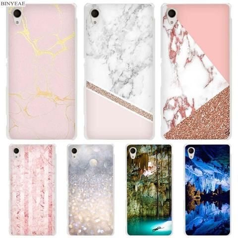 Binyeae Stalactite Pink Marble Glitter Clear Case Cover For Sony Xperia Z1 Z2 Z3 Z4 Z5 M4 Aqua M5 X Xa Xa1 Xz E4 E5 C4 C5 With Images Clear Cases