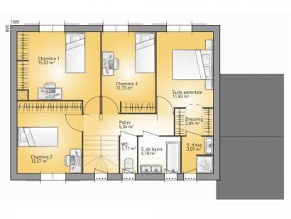Modèle de maison Bastide 140 - 4 chambres - Maisons France Confort - plan maison france confort