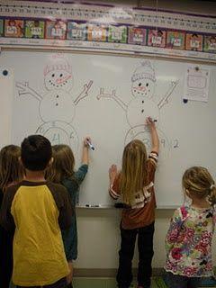 snowman math races...