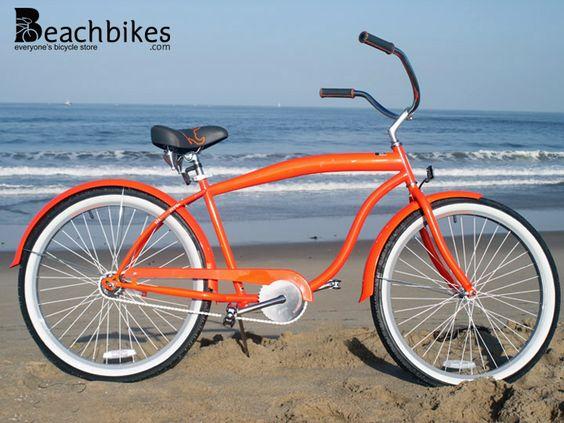 Mammoth Single Speed Orange Men S 26 Beach Cruiser Bike By Sixthreezero Beach Cruiser Bicycle Beach Cruiser Bikes Beach Cruiser