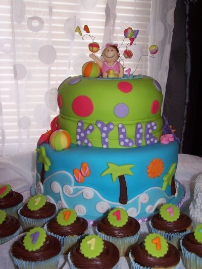 So cute! Pool party birthday By pammm on CakeCentral.com