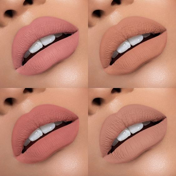"""128k Likes, 1,664 Comments - Kylie Cosmetics (@kyliecosmetics) on Instagram: """"4 New Nudes Matte Vs Velvet #VacationEdition #June15"""""""