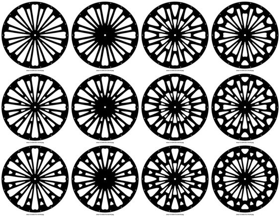Generative wheels by Karsten Schmidt, built using Processing + toxiclibs library