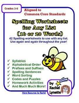 Spelling Printables for Any List | Actividades, Obras de teatro y ...