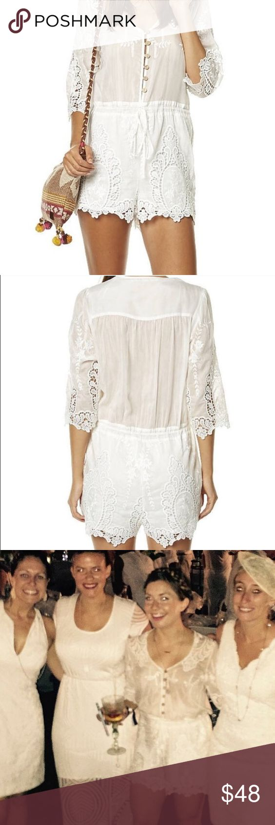 Ministry of Style White Lace Romper This romper is gorgeous - and will make you feel it, too. Worn once for a special event and had been sitting in my closet since! 70% cotton, 30% silk. Bottom is lined, drawstring waist for cinching. Ministry of Style Pants Jumpsuits & Rompers