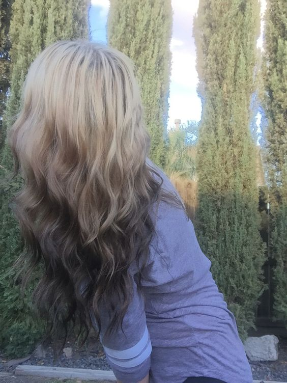 dark brown reverse ombre and my hair on pinterest